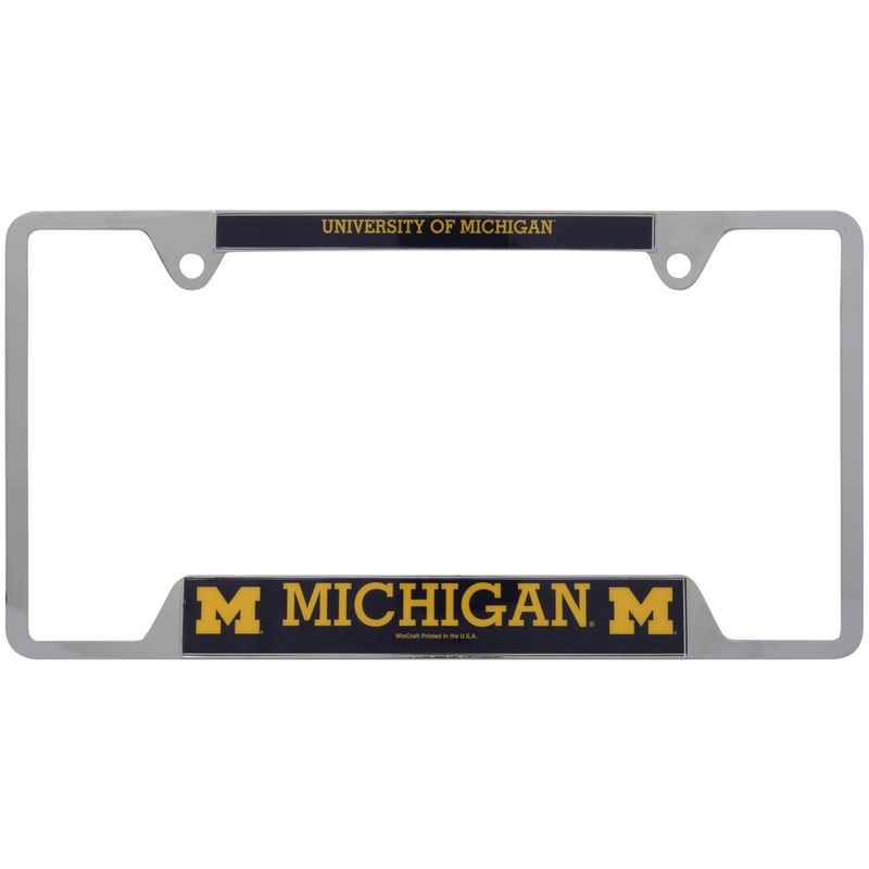 Michigan Wolverines WinCraft License Plate Frame | Michigan ...