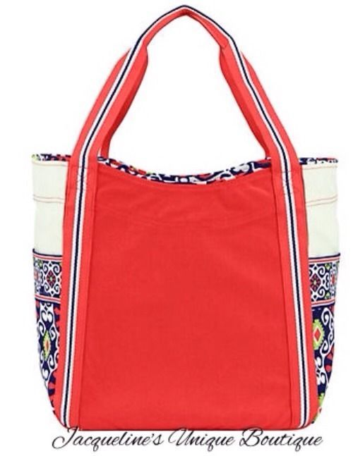 9c79001b8768 Vera Bradley Sun Valley LARGE COLORBLOCK TOTE PURSE EVERYTHING BAG BEACH  NWT  VeraBradley  TotesShoppers