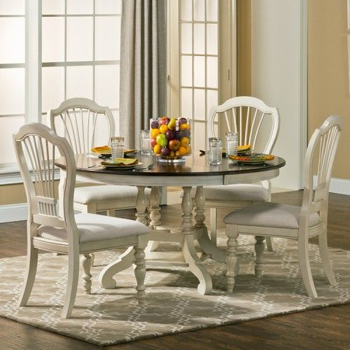 Provenance Wood Round Dining Table In Antique Linen Tuscan Dinningrooms Round Wood Dining