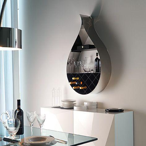 Contemporary Wall Wine Rack Shaped Like A Drop Modern Wall Wine Rack Modern Wine Rack Wall Mounted Wine Rack