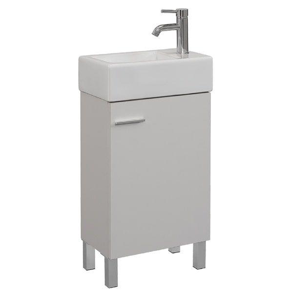 18399 Urbana White 18 Inch Single Bathroom Vanity Set Bath