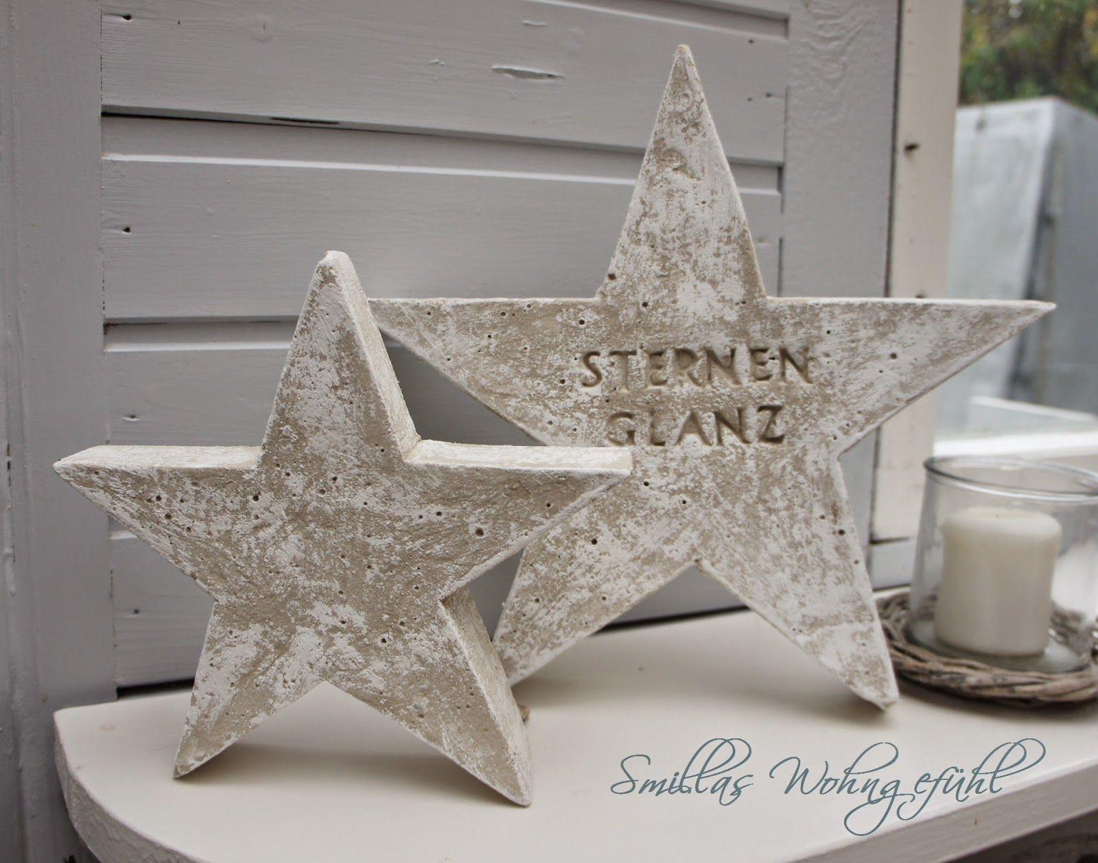 DIY: a star is born! Beton-Sterne ;-) | Sterne, Anleitungen und ...