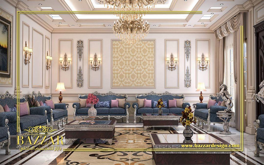 تصميم نيو كلاسيك لمجلس رجال ذو خطوط عصرية واضحة وجدران ذات الوان هادئة وزخارف عصرية ذات تفاصيل متقنة New Living Room Decor Colors Living Room Decor Home Decor