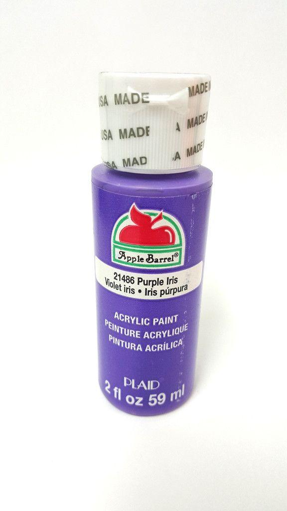 Apple Barrel 21486 Purple Iris Acrylic Paint 2fl oz