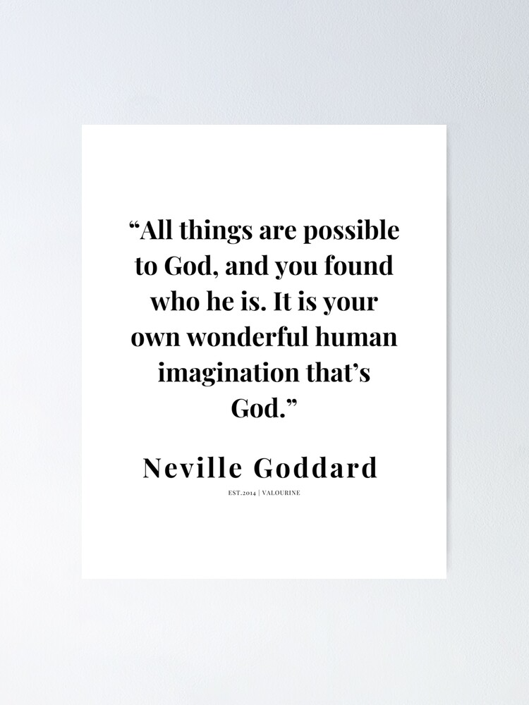 29  |   Neville Goddard Quotes | 210308 | Motivational Quote Poster by QuotesGalore