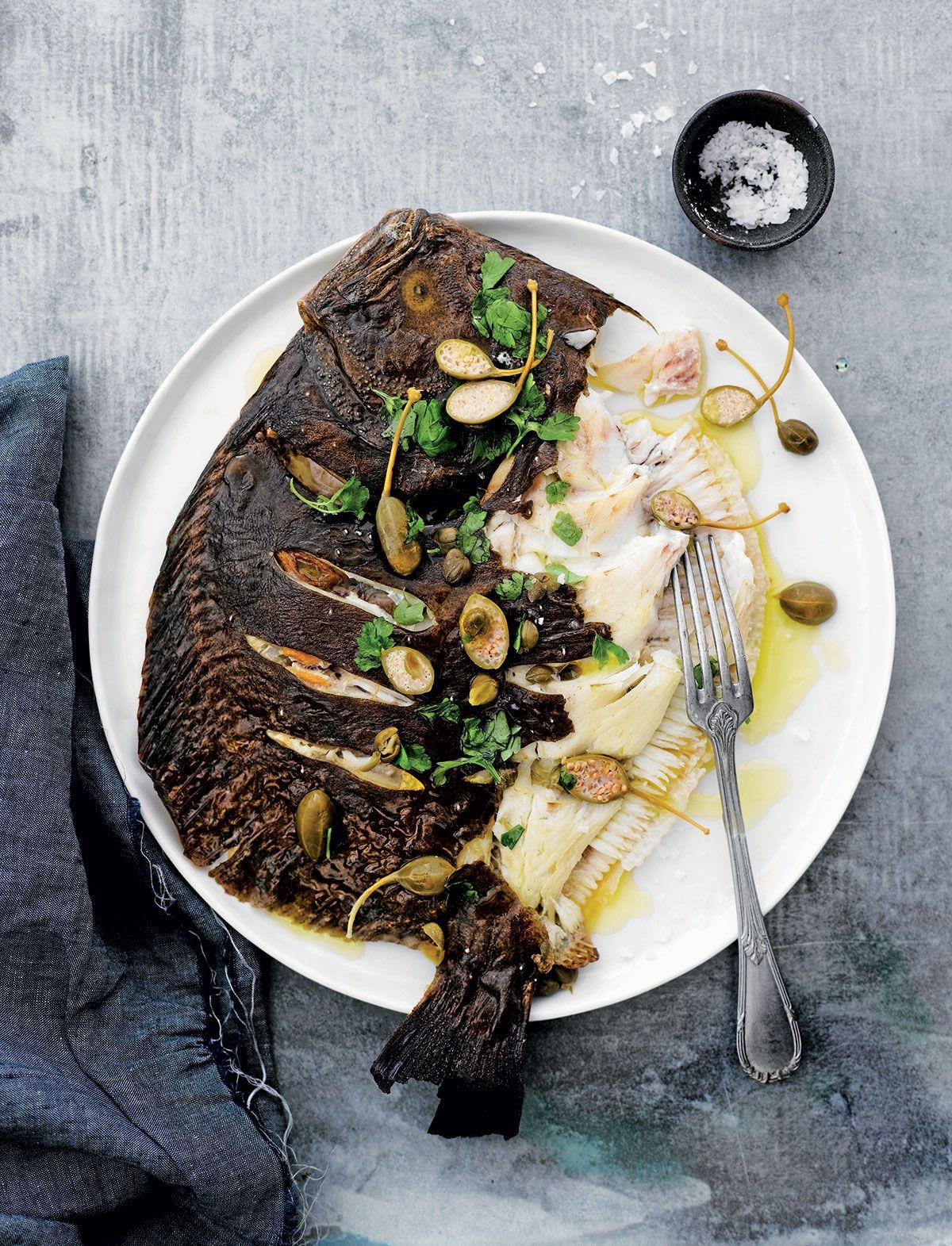 Resepti: Vaaleaa kalaa kapris-sitruunakastikkeessa