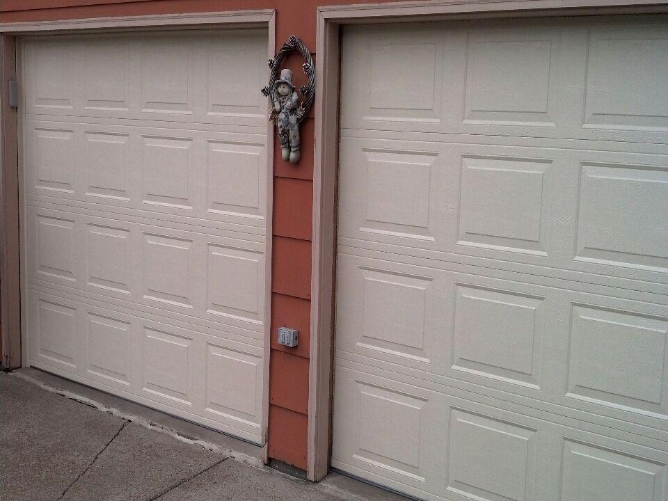 Jon Installed 2 9x6 9 Tr2000 Almond Near Girard Curve Bloomington Mn 55431 American Garage Door Garage Doors Garage Door Repair