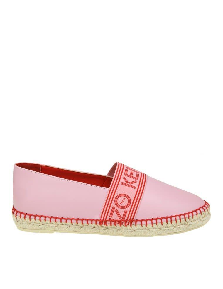 7149856df83 KENZO | Kenzo Kenzo Espadrillas In Pink Leather With Logo #Shoes #Flat Shoes  #KENZO