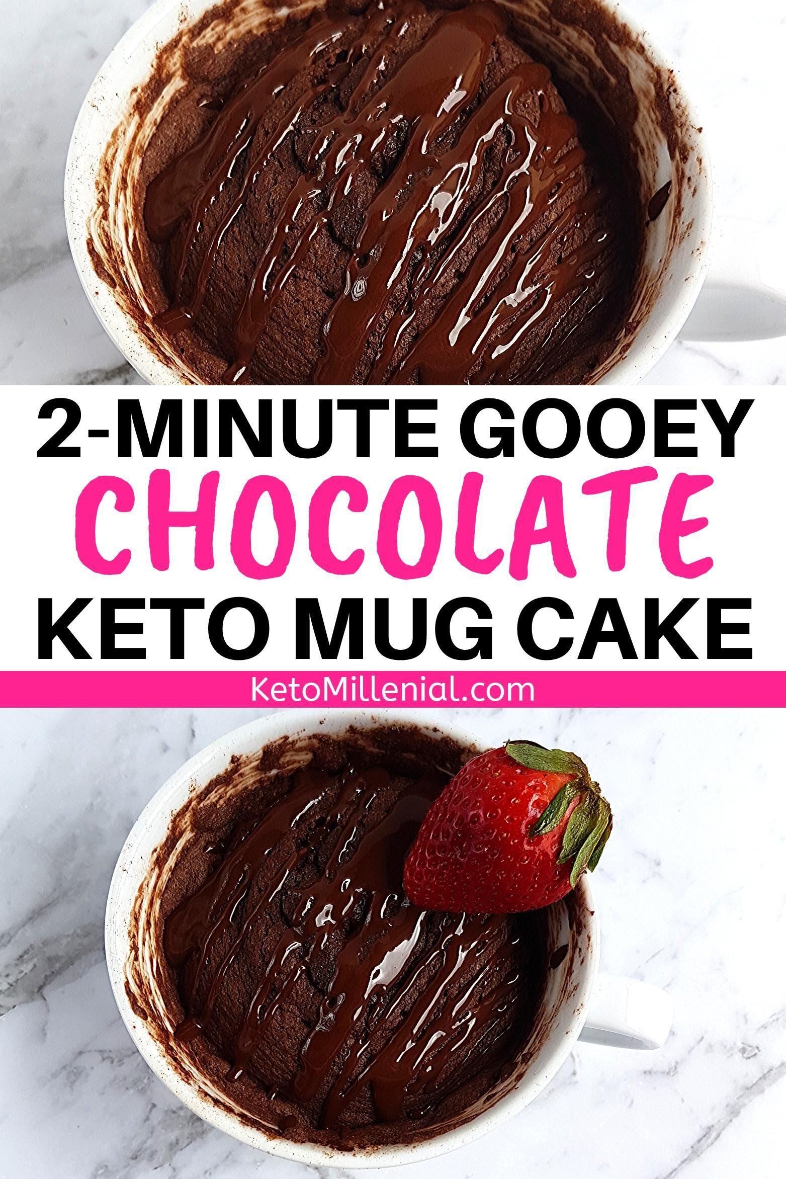 Easy Keto Chocolate Mug Cake Recipe Ready In 2 Minutes # ...