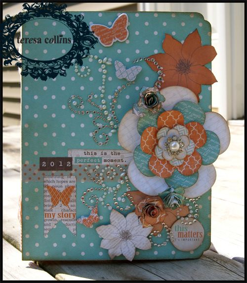 TERESA COLLINS DESIGN TEAM: Xyron and Teresa Collins Designs - Day 4 mini album by Stacy Rodriguez