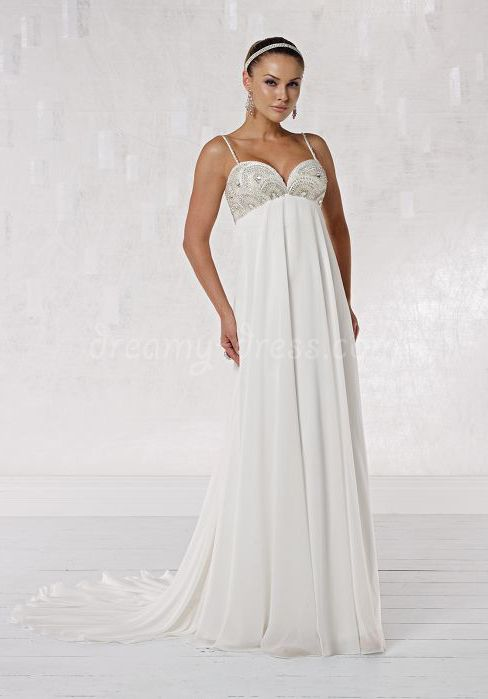 ... wedding dress is a great option for pregnant brides. I like how this  one is flowy 40d432b53034