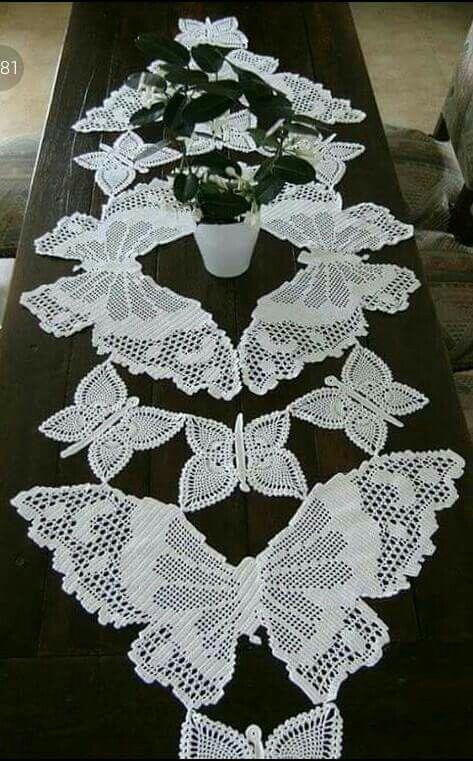 Daffodil Filet Crochet Chart Free Pattern for Table Runner ...