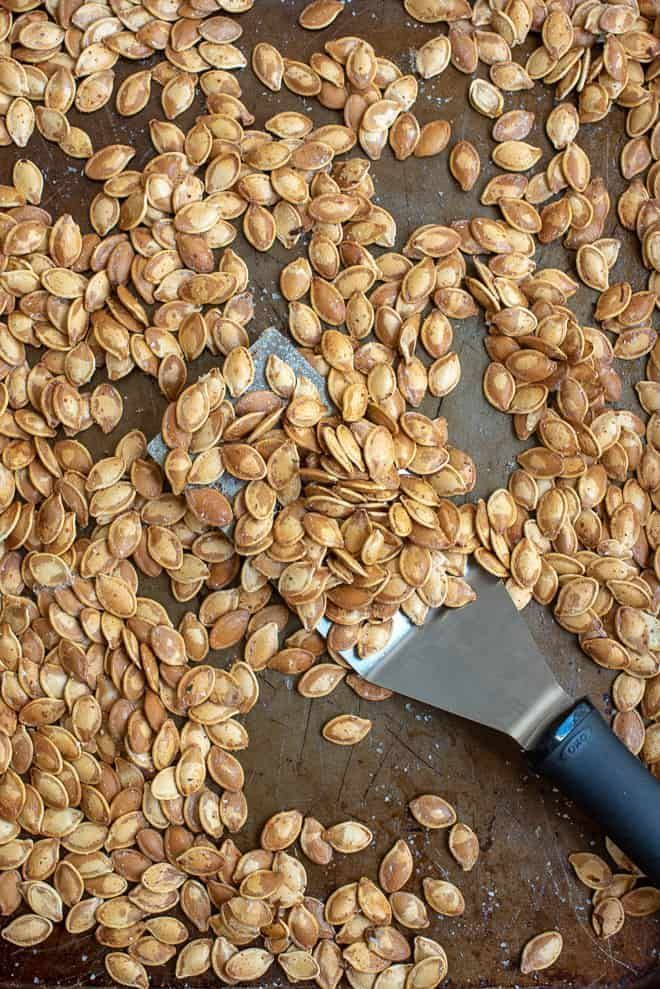 My tried and true method and step-by-step tutorial for roasting pumpkin seeds. It wouldn't be Halloween without these Perfect Roasted Pumpkin Seeds. #roastedpumpkinseeds My tried and true method and step-by-step tutorial for roasting pumpkin seeds. It wouldn't be Halloween without these Perfect Roasted Pumpkin Seeds. #roastedpumpkinseeds My tried and true method and step-by-step tutorial for roasting pumpkin seeds. It wouldn't be Halloween without these Perfect Roasted Pumpkin Seeds. #roastedpum #roastedpumpkinseedsrecipe