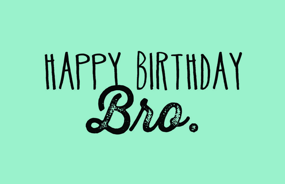 Happy Birthday Invitation Card With Photo Bro Birthday Cards For