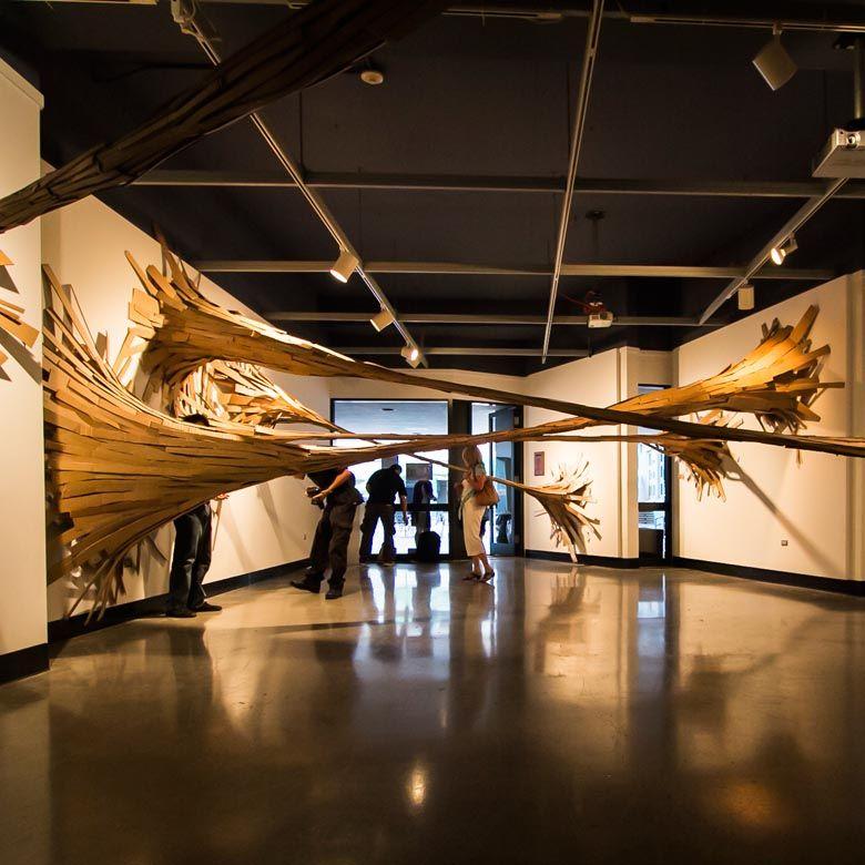 The sticky bamboo installation by Hongtao Zhou + graduate