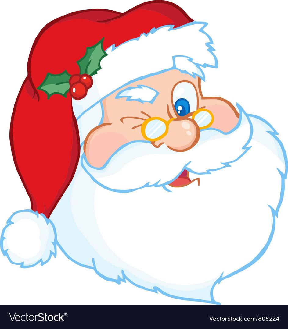 Santa Claus Winking Classic Cartoon Head Download A Free Preview Or High Quality Adobe Illustrator A Christmas Drawing Disney Coloring Pages Rock Painting Art