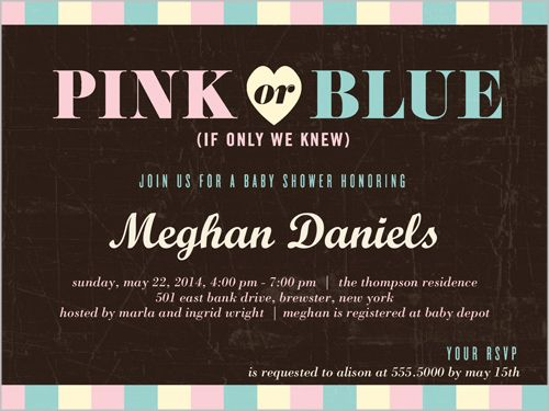 Pink Or Blue Baby Shower Invitation All About Baby Showers
