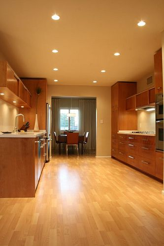 Narrow Kitchen Layout Recessed Lighting Kitchen Recessed