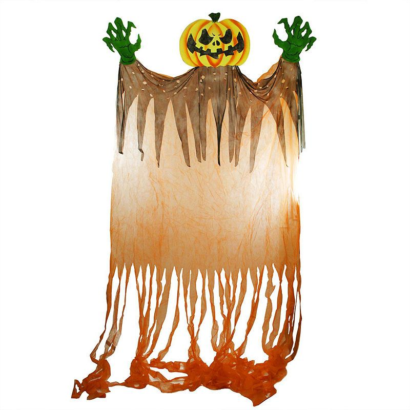 11\u0027 Scary Jack-o\u0027-Lantern with Monster Hands Hanging Halloween - lowes halloween inflatables