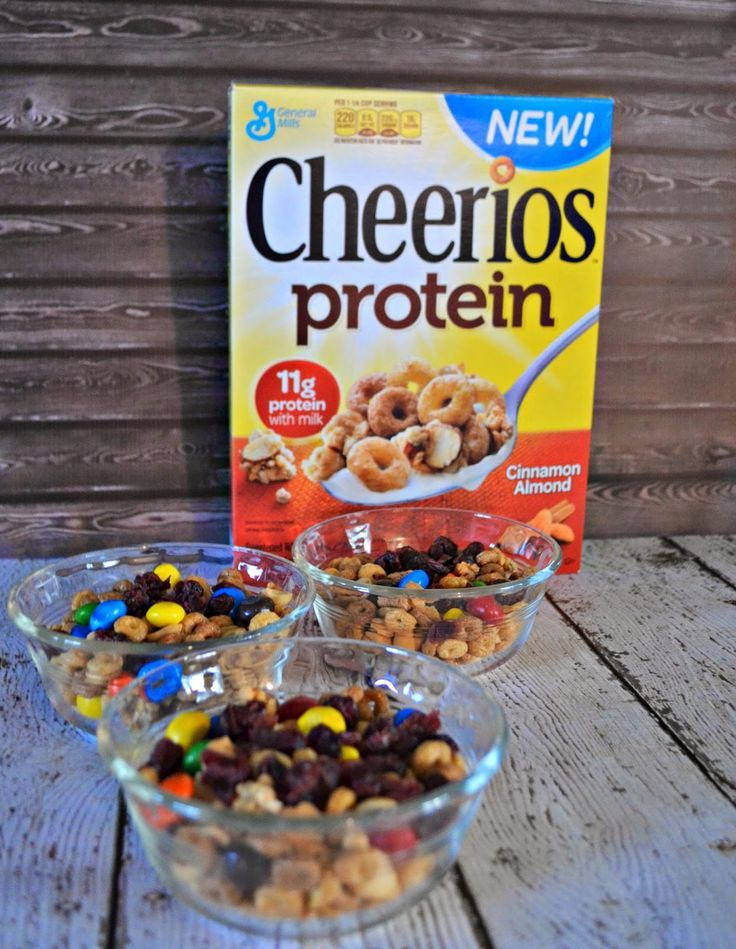 High Protein Trail Mix with Cheerios #recipe
