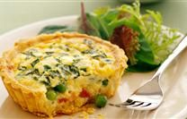 Mini Quiches With Peas And Ham