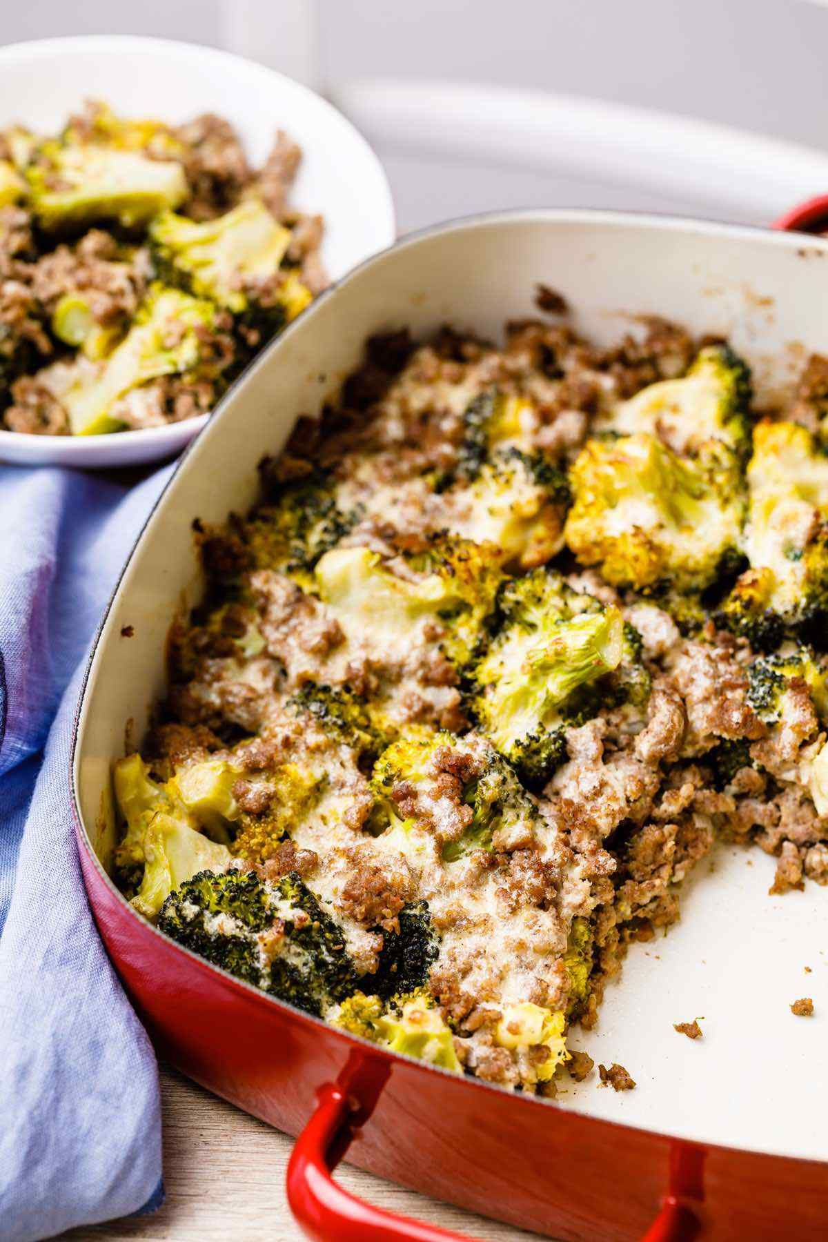 Garlic Roasted Broccoli And Ground Beef Casserole Paleo Grubs Paleo Grubs Ground Beef Paleo Recipes Paleo Ground Beef