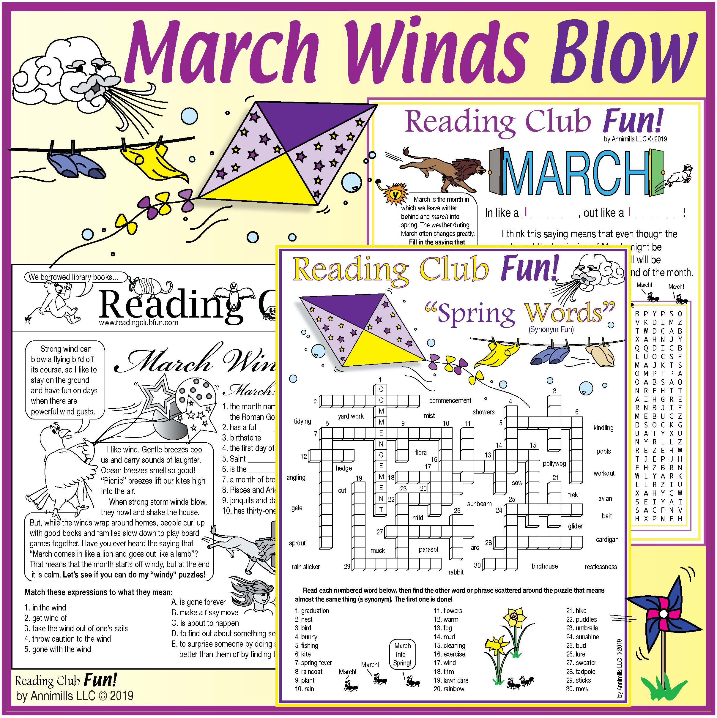 March Winds Blow Spring Puzzle Set In