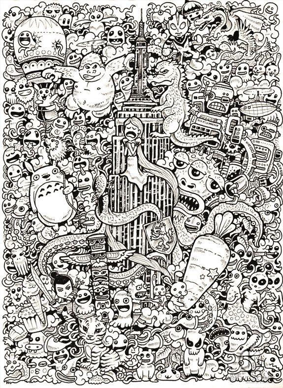 Les inspirants dessins de Kerby Rosanes | Baby tigers, King kong and ...