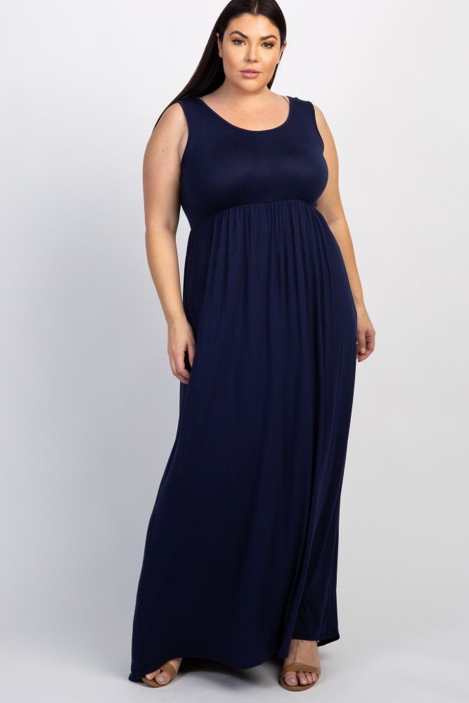 700602ec527db Royal Basic Sleeveless Plus Maternity Maxi Dress
