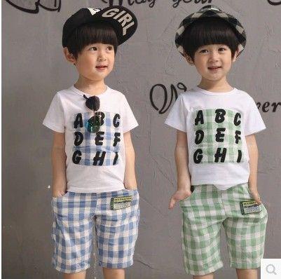 Camisetas Niño · Encontrar Más Conjuntos de Ropa Información acerca de 2015  verano moda coreana Boys que arropa niños 56fc1b84f7633
