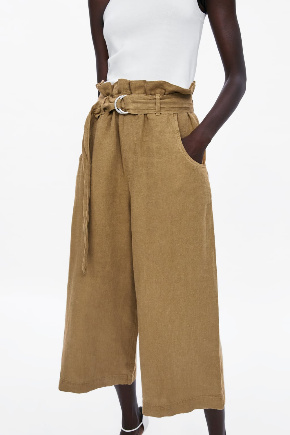 pantalones de pata ancha Zara | Craving for Barneys