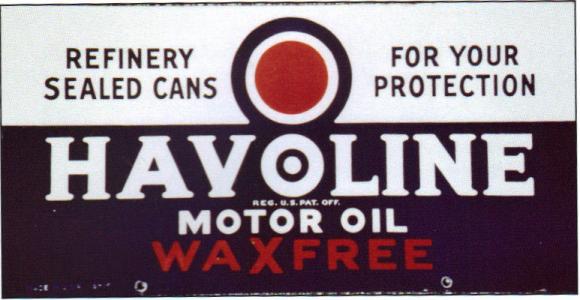 HAVOLINE OIL CAN PORCELAIN SIGN
