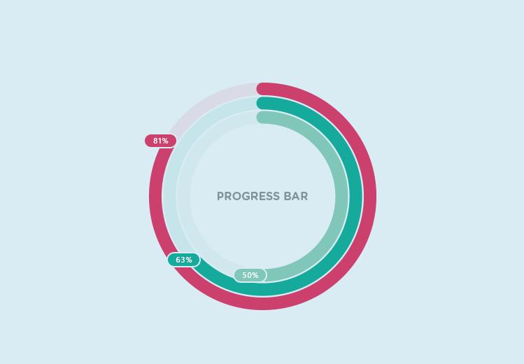 Circular Progress Bar With Multiple Colors