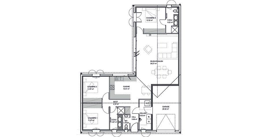 Modèle Maison régionale - IGC Construction Floor Plan Pinterest - modeles de maison a construire