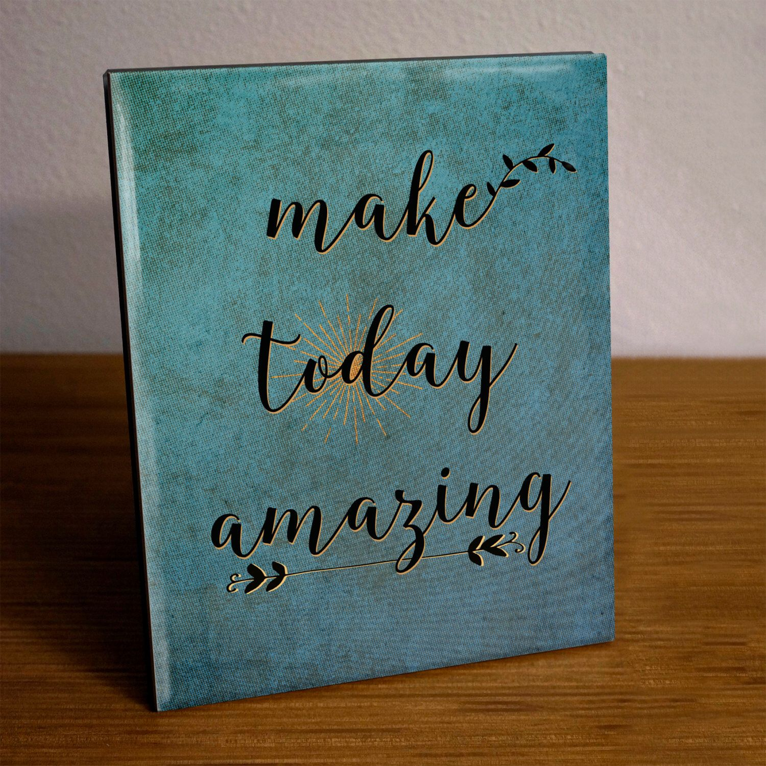 Make Today Amazing Quote Home Office Decor Ceramic Tile with Easel ...