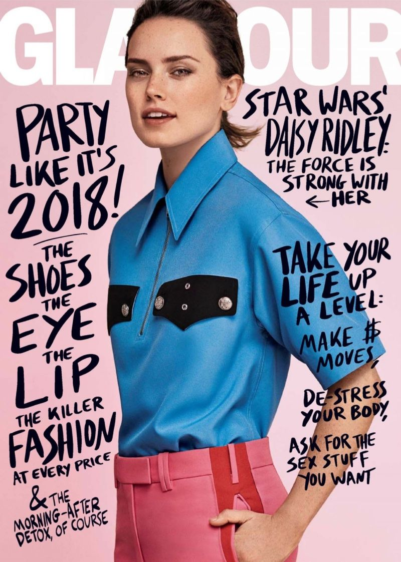 Daisy Ridley Stars In Glamour Uk Talks How Fame Affects Her Family Glamour Magazine Glamour Magazine Cover Fashion Trends Magazine