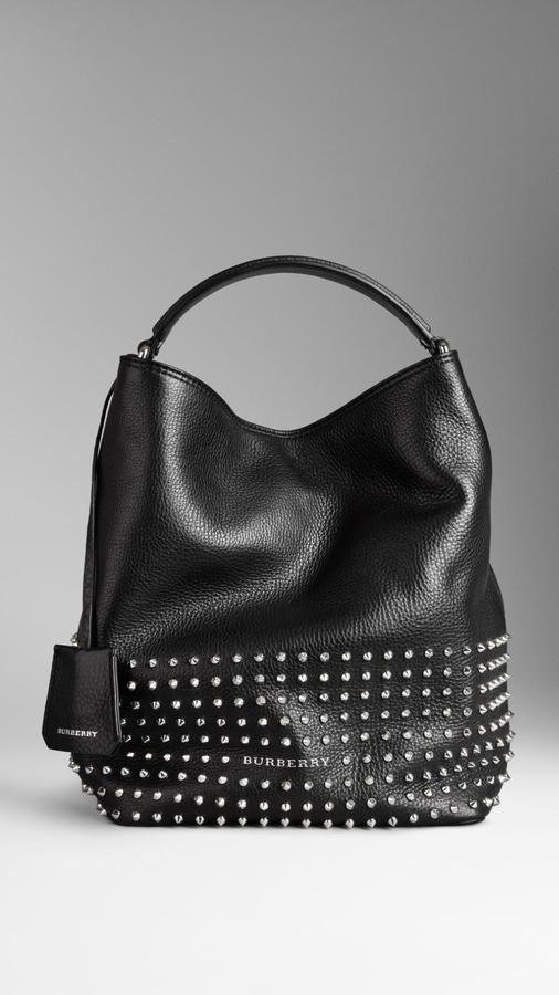 86f407ffd27 Burberry Medium Studded Leather Hobo Bag on shopstyle.com | ✿iBAG ...