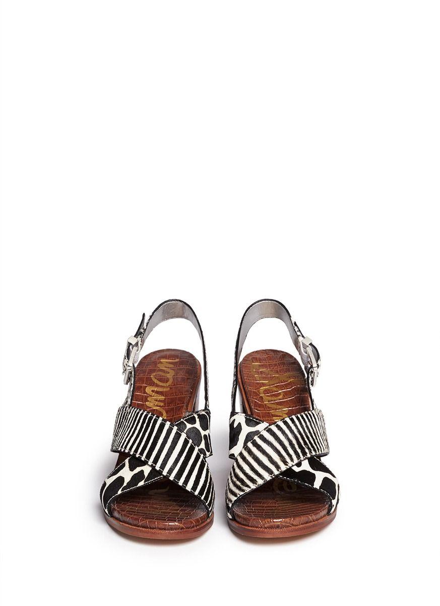 3f905cd0a6206 SAM EDELMAN -  Ivy  animal print Brahma hair sandals