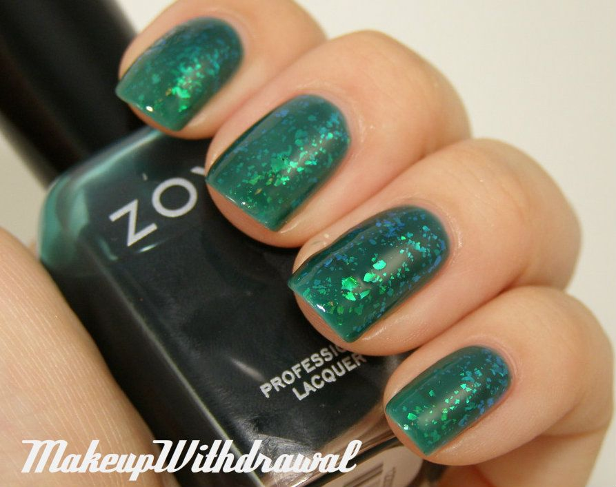 Makeup Withdrawal: Zoya Fall 2012 - Gloss Collection. Zoya Opal over Zoya Frida.