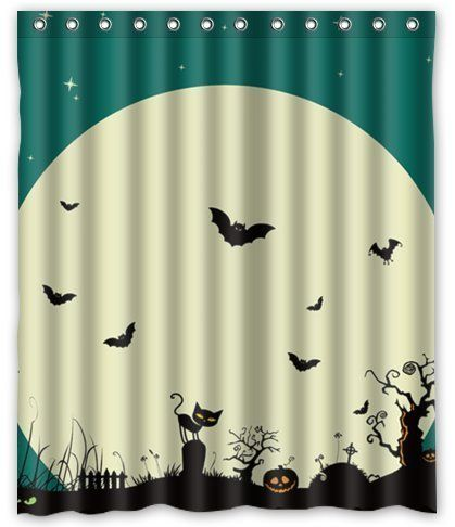 Aloundi Fabulous Store Custom Happy Halloween Night Waterproof Polyester Fabric Shower Curtain To Learn More See Image Link