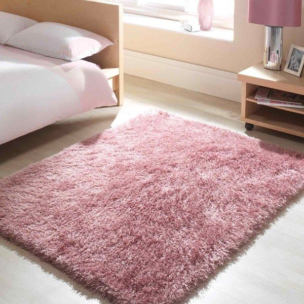 Santa Cruz Summertime Shaggy Rugs In Crushed Strawberry Pink Online From The Rug Er Uk