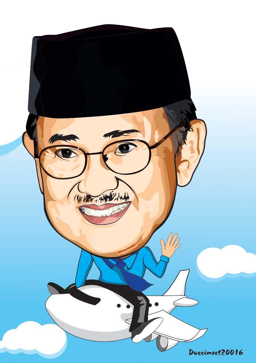 Gambar Karikatur Tokoh Pahlawan