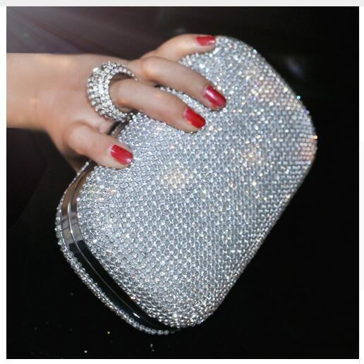 Brand Women Day Clutches Party Bride Wedding Bag Bridal Evening Bags Diamond