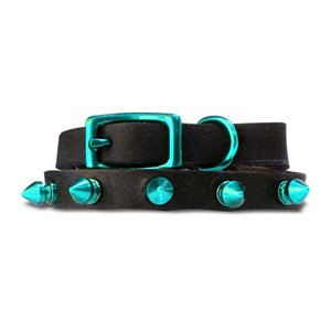 Spike Collar XS Teal, $14.50, now featured on Fab.
