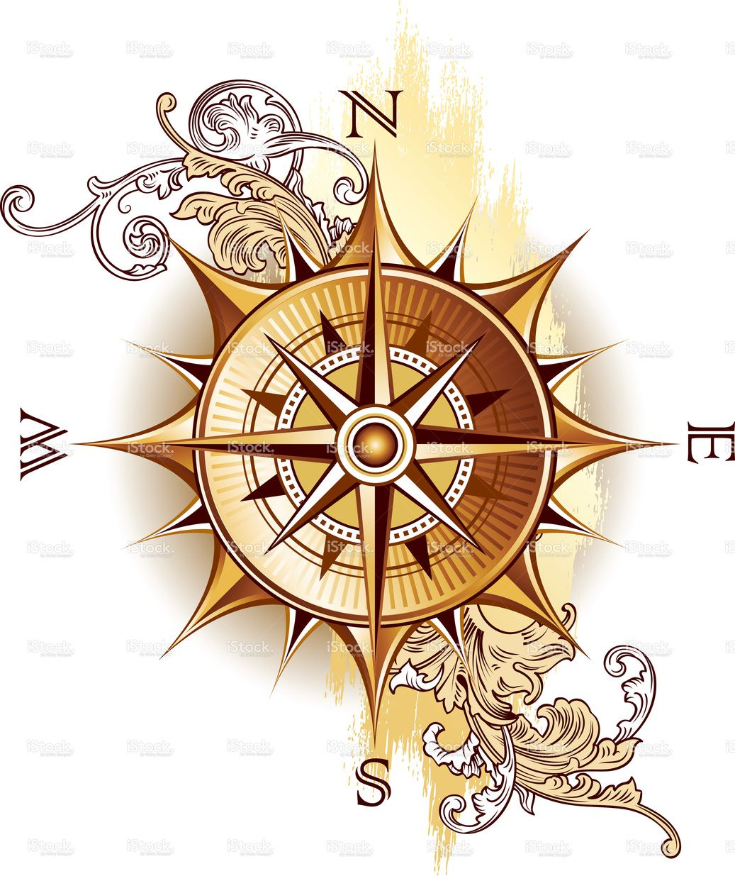 Decorative Image Of Age Old Compass Compass Drawing Compass Art Compass Tattoo