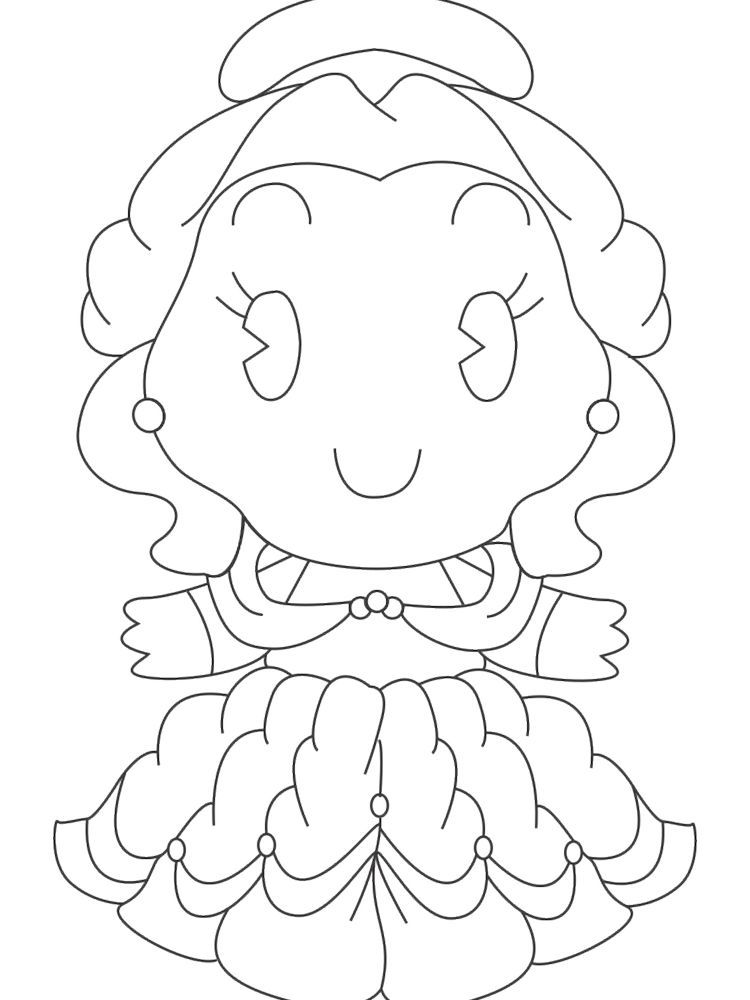 Disney Princess Cuties Coloring Pages | Coloring Online