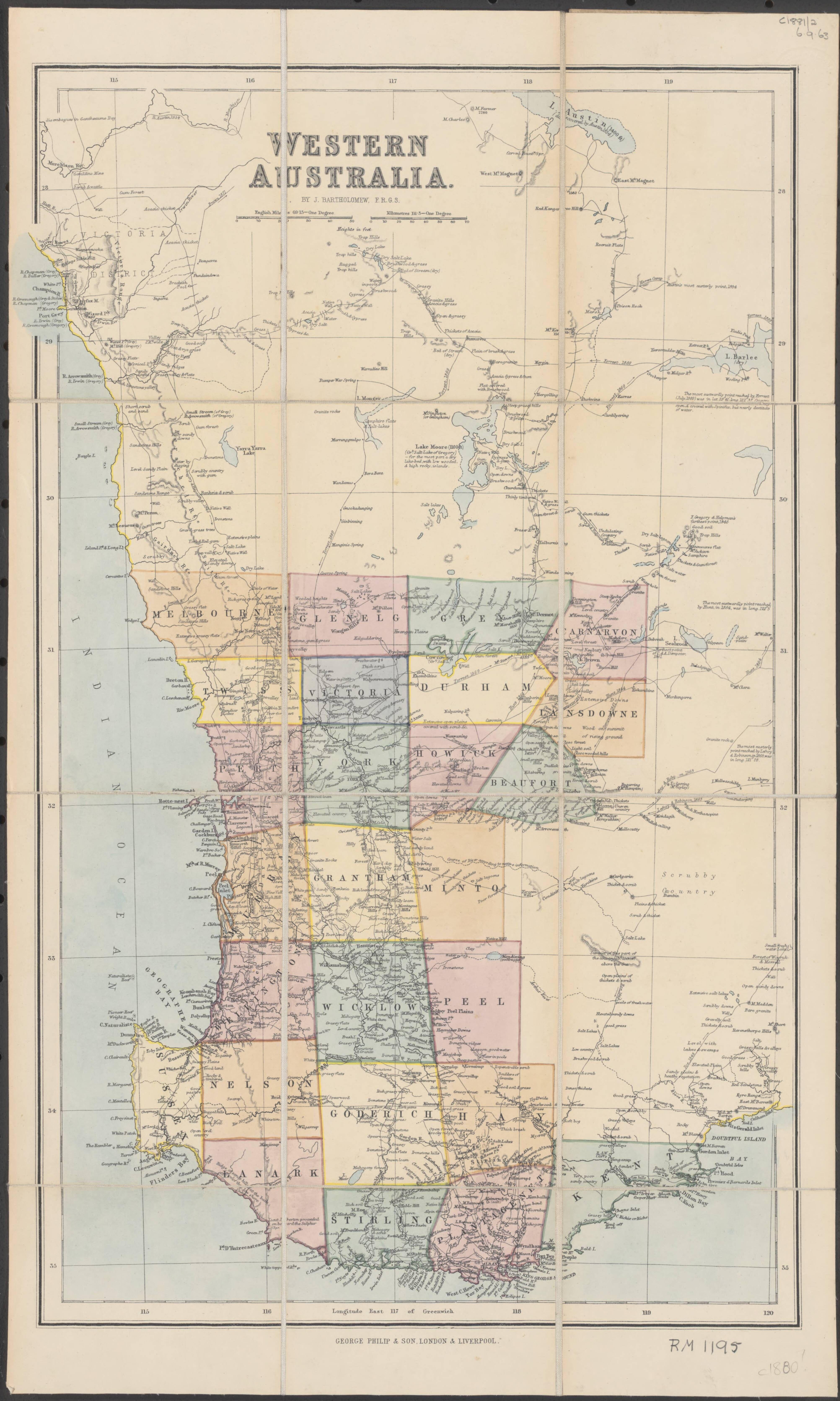 Map Of Australia 1880.1880 Map Of Western Australia Western Australia Australia Map