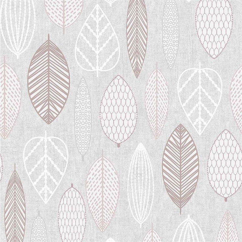 Scandi Leaf Blush Wallpaper At Homebase Co Uk Blush Wallpaper Scandi Wallpaper Leaf Wallpaper