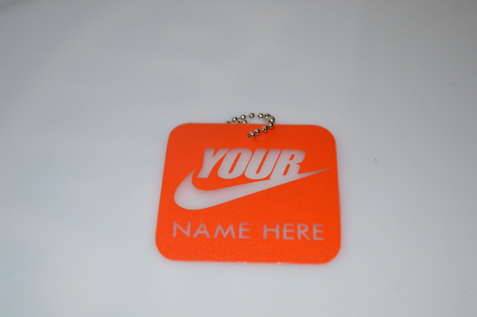 big sale 11b37 3d82e One Custom hand made replica of the Nike Hang Tag with your very own name.