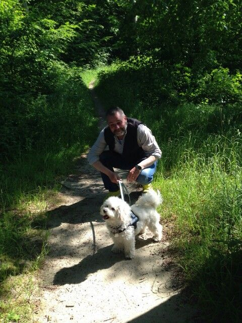 Mit Ciko im Wald